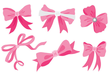 Free Hair Ribbon Icons Vector - Free vector #429301