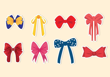 Patterned Hair Ribbon Vectors - Free vector #429311