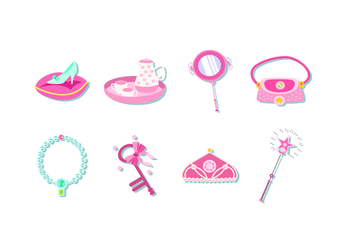 Pink Princess Element Free Vector - vector gratuit #429321