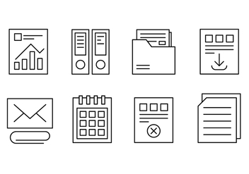Free Office and Web Icons - vector #429371 gratis