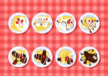 Plating Waffle Free Vector - vector gratuit #429381