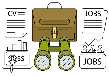 Linear Job Hunting Icons - бесплатный vector #429401