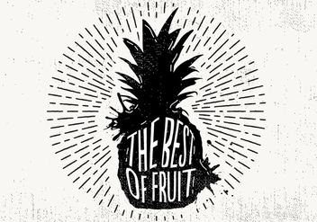 Free Hand Drawn Pineapple Background - Free vector #429431