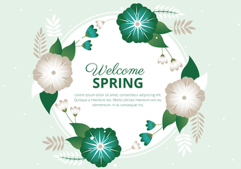 Free Spring Season Vector Background - бесплатный vector #429441