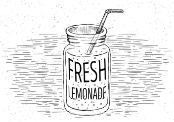 Free Lemonade Vector Jar Illustration - Free vector #429471