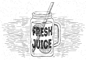 Free Fresh Lemonade Vector Jar Illustration - Free vector #429511