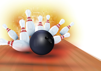Halftone Bowling Lane Background - vector gratuit #429541