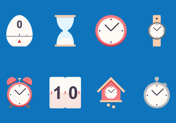 Timer Flat Icon - Kostenloses vector #429551