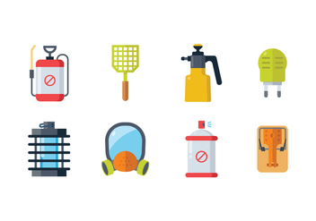 Pest Control Icons - Free vector #429571