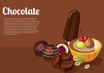 Chocolate Template Free Vector - бесплатный vector #429581