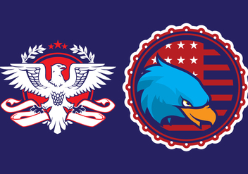 Eagle Propaganda Badge - бесплатный vector #429591