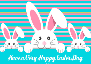 Cute Easter Bunny Illustration - Free vector #429651