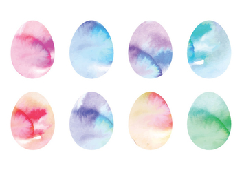 Vector Coloful Watercolor Easter Eggs - Kostenloses vector #429911