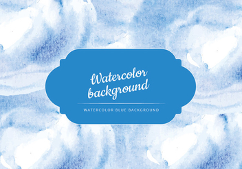 Vector Blue Watercolor Background - vector gratuit #429921
