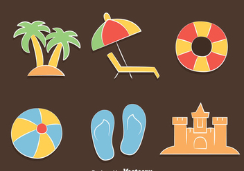 Beach Element Vector - vector #429991 gratis