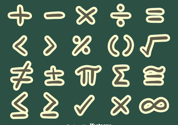 Great Math Symbol Vector - vector #430001 gratis