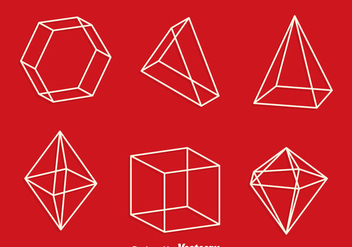 3d Geometric Shapes Line Vector - vector gratuit #430011