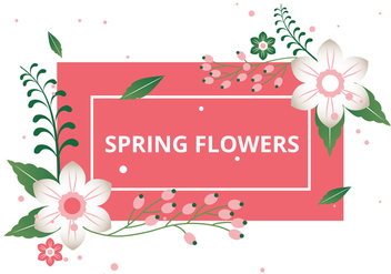 Free Spring Season Vector Background - бесплатный vector #430071