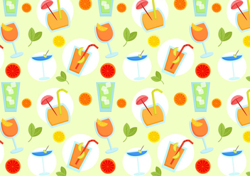 Free Beverages Pattern Vectors - vector gratuit #430131