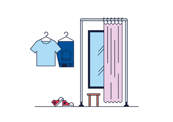 Free Fitting Room Vector - vector #430141 gratis