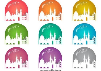 Vector Prague City Colorful Badges - vector gratuit #430161