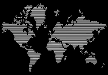 Line World Map - vector #430171 gratis