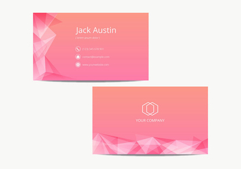Pink Modern Name Card Template Vector - Free vector #430201