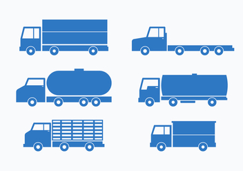 Blue Camion Vector Collection Set - Kostenloses vector #430211
