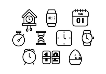 Free Time Icon Vectoer - vector gratuit #430261