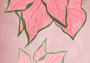 Pink Leaves Background - vector #430271 gratis