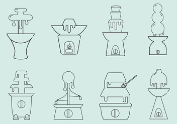 Chocolate Fountain Icon Vectors - vector #430281 gratis
