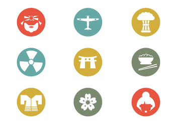 World War II Pacific Theater Vector Icon - vector #430301 gratis