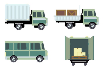 Transportation Logistic Vector Set - Kostenloses vector #430311