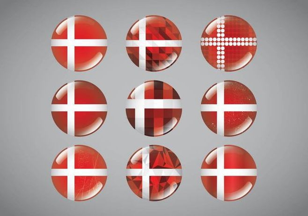 Button Pins Danish Flag - vector gratuit #430331