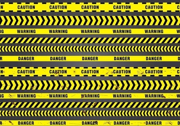 Seamless Danger Tape - vector #430341 gratis
