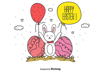 Happy Easter Vector Background - vector #430391 gratis