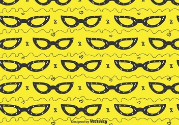 Cat Eye Glasses Pattern - vector gratuit #430431