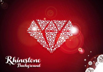 Rhinestone Diamond Background Vector - vector gratuit #430441