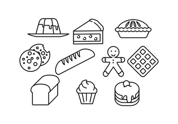 Free Food Line Icons Vector - Free vector #430451