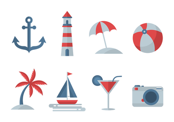 Free Beach Vector Icons - бесплатный vector #430501