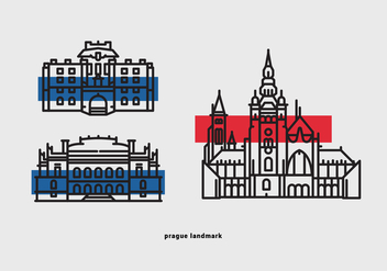 Prague Landmark Vector Icon Pack - vector gratuit #430551