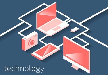 Technology Elements Vector - vector #430661 gratis