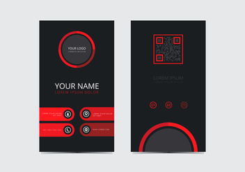 Red Stylish Business Card Template - vector gratuit #430711