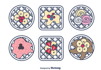 Sweet Waffles Vector - бесплатный vector #430771