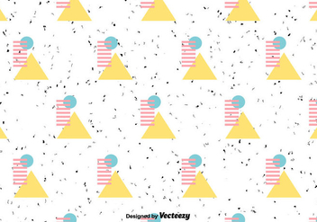 Retro Geometric Vector Pattern - Free vector #430791