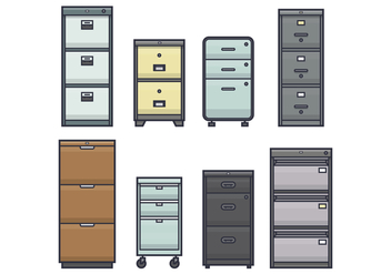 Office File Cabinet Vectors - бесплатный vector #430811