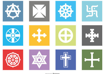 Religious Symbol Icon Set - vector #430821 gratis