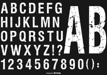 Grunge Alphabet Collection - vector gratuit #430831