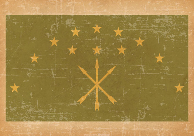 Adygea Flag on Old Grunge Style Background - Kostenloses vector #430841