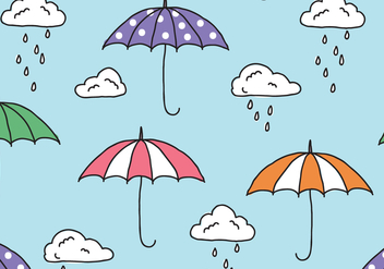 Rainy Monsoon Pattern - Free vector #430871